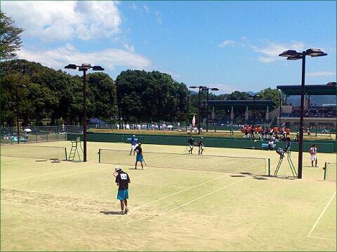 2012インカレ男子団体、団体戦会場の山口維新公園会場。